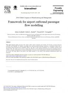 Framework for Airport Outbound Passenger Flow Modelling - Core