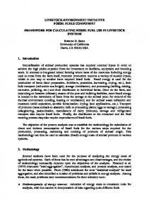 Framework for Calculating Fossil Fuel use in Livestock - FTP Directory ...