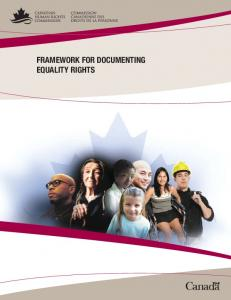 FRAMEWORK FOR DOCUMENTING EQUALITY RIGHTS