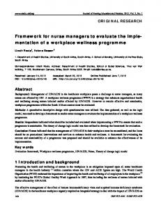 Framework for nurse managers to evaluate the imple ... - Sciedu Press