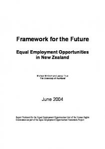 Framework for the Future - Human Rights Commission