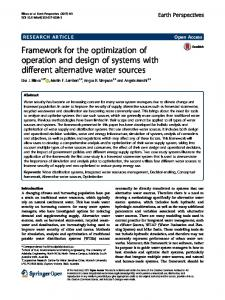 Framework for the optimization of operation and design of systems ...