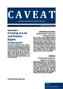 Framing in Law and Human Rights Framework
