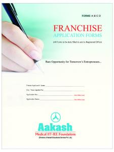 franchise brochure form - Aakash.ac.in