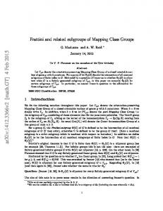Frattini and related subgroups of Mapping Class Groups