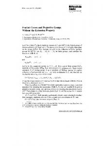 Frattini Covers and Projective Groups Without the ... - UCI Mathematics