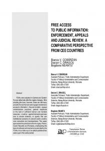 free access to public information: enforcement, appeals and ... - RTSA