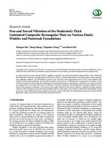 Free and Forced Vibration of the Moderately Thick Laminated