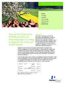 Free and Total Glycerol in B100 Biodiesel by Gas ... - PerkinElmer