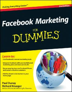 FREE chapter of Facebook Marketing For Dummies, 2nd Edition