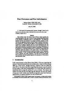 Free Choiceness and Non Individuation - UFR de Linguistique
