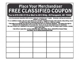 FREE CLASSIFIED COUPON
