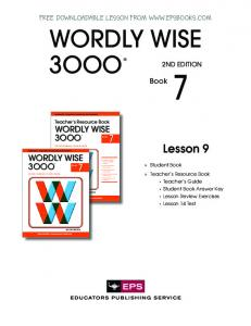 FREE DOWNLOADABLE LESSON FROM WWW.EPSBOOKS.COM ...