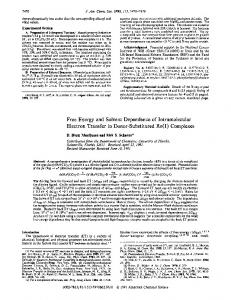 Free Energy and Solvent Dependence of Intramolecular Electron ...