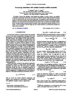 Free-energy calculations with multiple Gaussian modified ... - JuSER