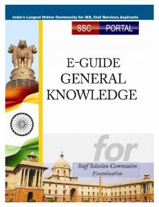 Free Guide for SSC General Knowledge - freetechportal