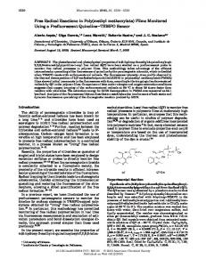Free Radical Reactions in Poly(methyl methacrylate) - American ...