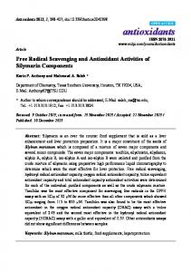 Free Radical Scavenging and Antioxidant Activities of ... - MDPI