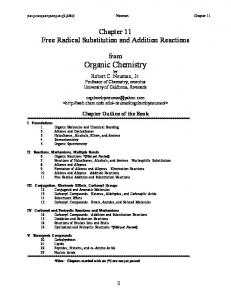 Free Radical Substitution and Addition Reactions
