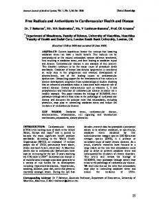Free Radicals and Antioxidants in Cardiovascular ... - AKS Publication