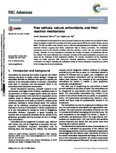 Free radicals, natural antioxidants, and their reaction