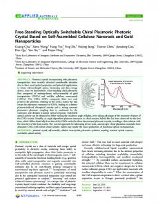Free-Standing Optically Switchable Chiral ... - ACS Publications