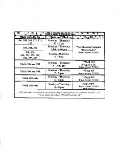Free tutoring (study hall) times (pdf)