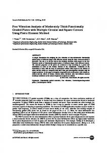 Free Vibration Analysis of Moderately Thick Functionally Graded ...