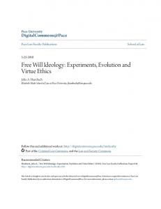 Free Will Ideology - DigitalCommons@Pace - Pace University