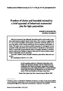 Freedom of choice and bounded rationality - SciELOwww.researchgate.net › publication › fulltext › Freedom-