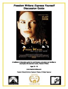 Freedom Writers: Express Yourself Discussion Guide