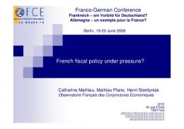 French fiscal policy under pressure?