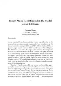 French Music Reconfigured in the Modal Jazz of Bill Evans - IIPC