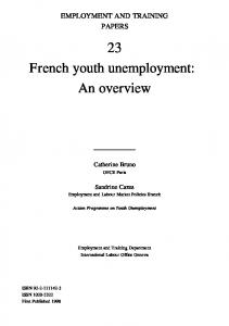 French youth unemployment: An overview