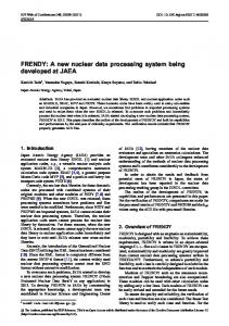 FRENDY: A new nuclear data processing ... - EPJ Web of Conferences