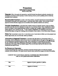 Frenectomy Informed Consent Form