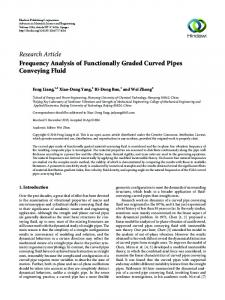 Frequency Analysis of Functionally Graded Curved Pipes Conveying ...