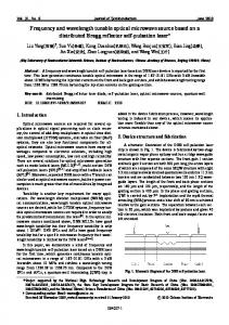 Frequency and wavelength tunable optical microwave ...