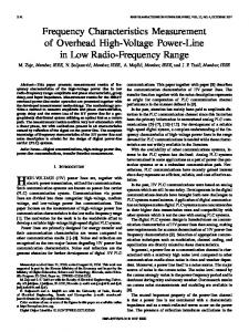 Frequency Characteristics Measurement of Overhead High-Voltage ...