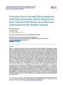 Frequency Decay through Electromagnetic Radiation Absorption and