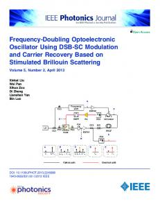 Frequency-Doubling Optoelectronic Oscillator Using DSB-SC ...