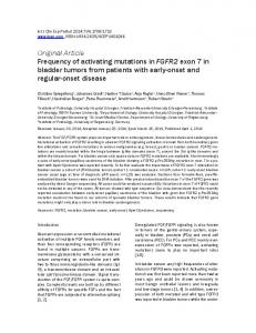 Frequency of activating mutations in FGFR2 exon 7 in bladder tumors ...