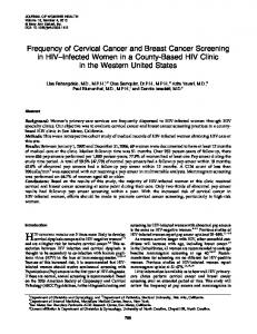 Frequency of Cervical Cancer and Breast Cancer Screening in HIV ...