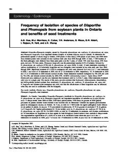Frequency of isolation of species of Diaporthe and Phomopsis from ...