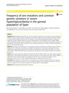 Frequency of rare mutations and common genetic variations in ... - Core