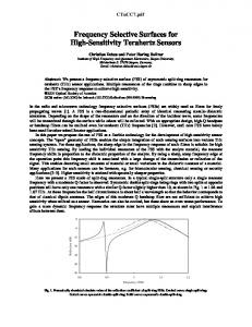 Frequency Selective Surface for High-Sensitivity ...
