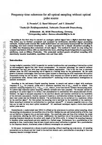 Frequency-time coherence for all-optical sampling without optical ...