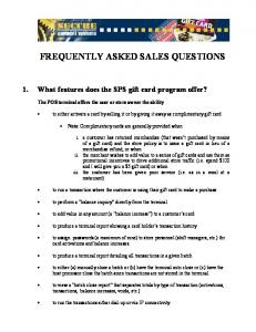 frequently asked sales questions - Secure Payment Systems