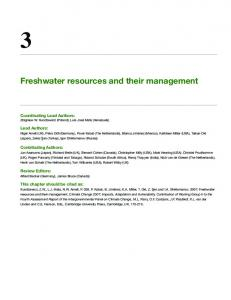 Freshwater resources and their management - IPCC