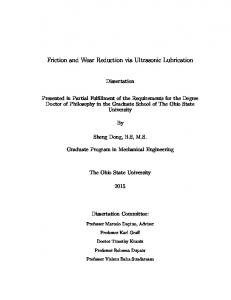 Friction and Wear Reduction via Ultrasonic Lubrication